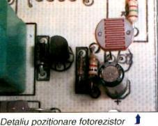 Automat pentru iluminat - poziţionare fotorezistor