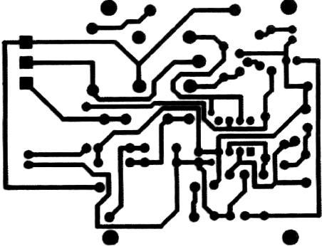 Automat pentru iluminat cablaj - circuitul imprimat