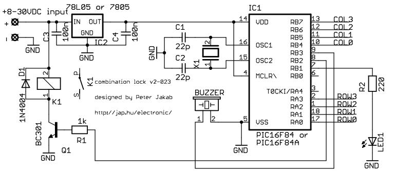 Incuietoare electronica cu cod de siguranta  PIC16F84