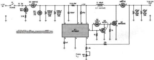 Schema alectrica convertor dc-dc auto