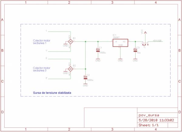 Schema electrica a sursei de tensiune