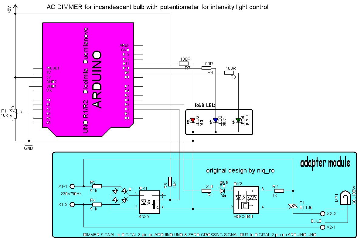 Variator de tensiune pentru bec cu Arduino (IV) | electrodb.ro