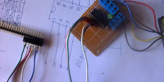 Comanda unui motor pas cu pas unipolar folosind Arduino (II)