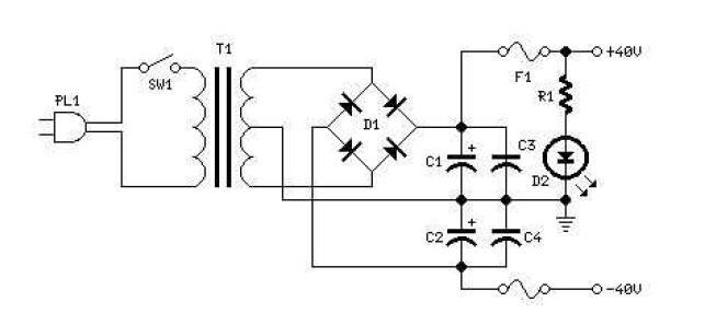 sursa de alimentare amplificator mosfet 60w rms schema electronica