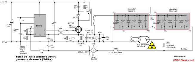 Generator Raze X (X-RAY) schema electronica