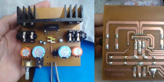 Amplificator audio 2x22W cu TDA1554Q